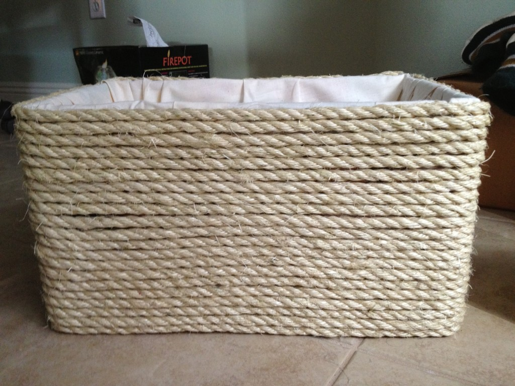 Basket Created From Diaper Box