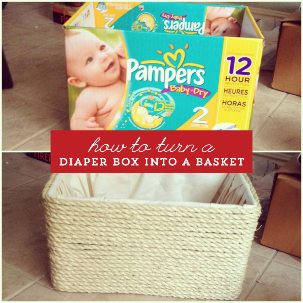 How to turn a diaper box into a basket.