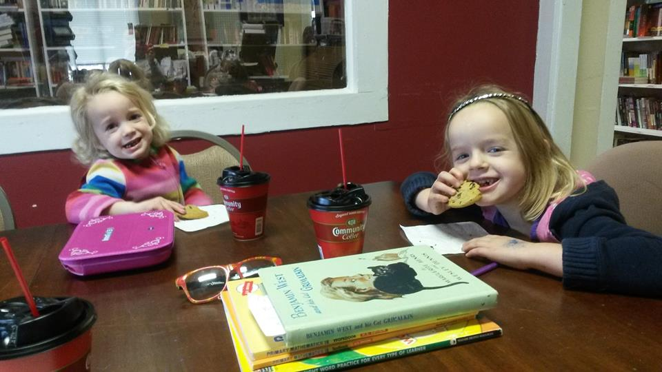 """Homeschool"" is a misnomer. We love ""coffee shop school""!"