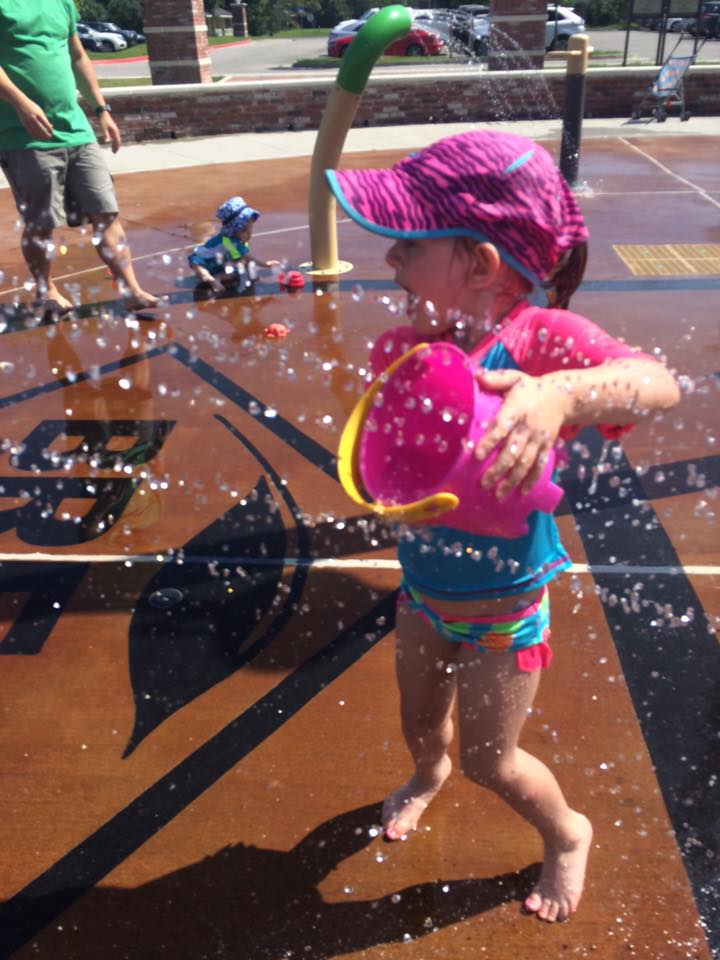 Cooling off in one of BREC's many splash pads!
