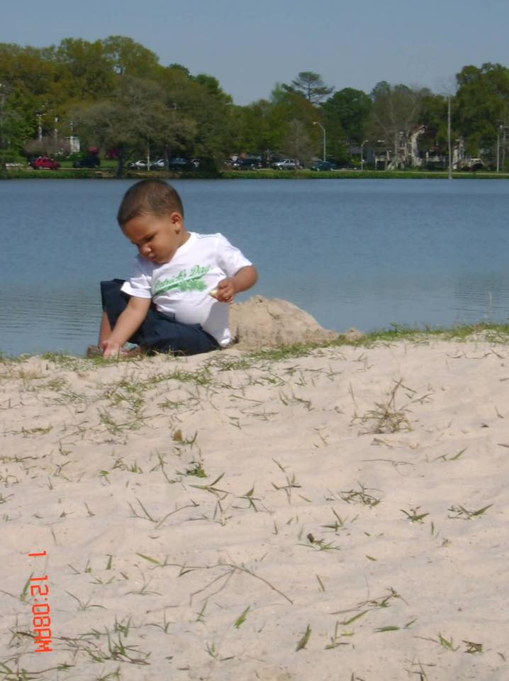 Baton Rouge's very own beach at the LSU lakes.