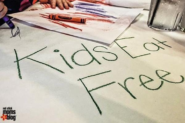 Kids Eat Free Around Baton Rouge