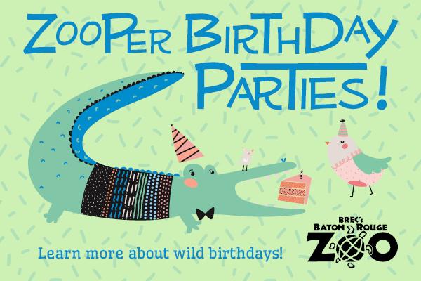 Baton Rouge Zoo Birthday Party