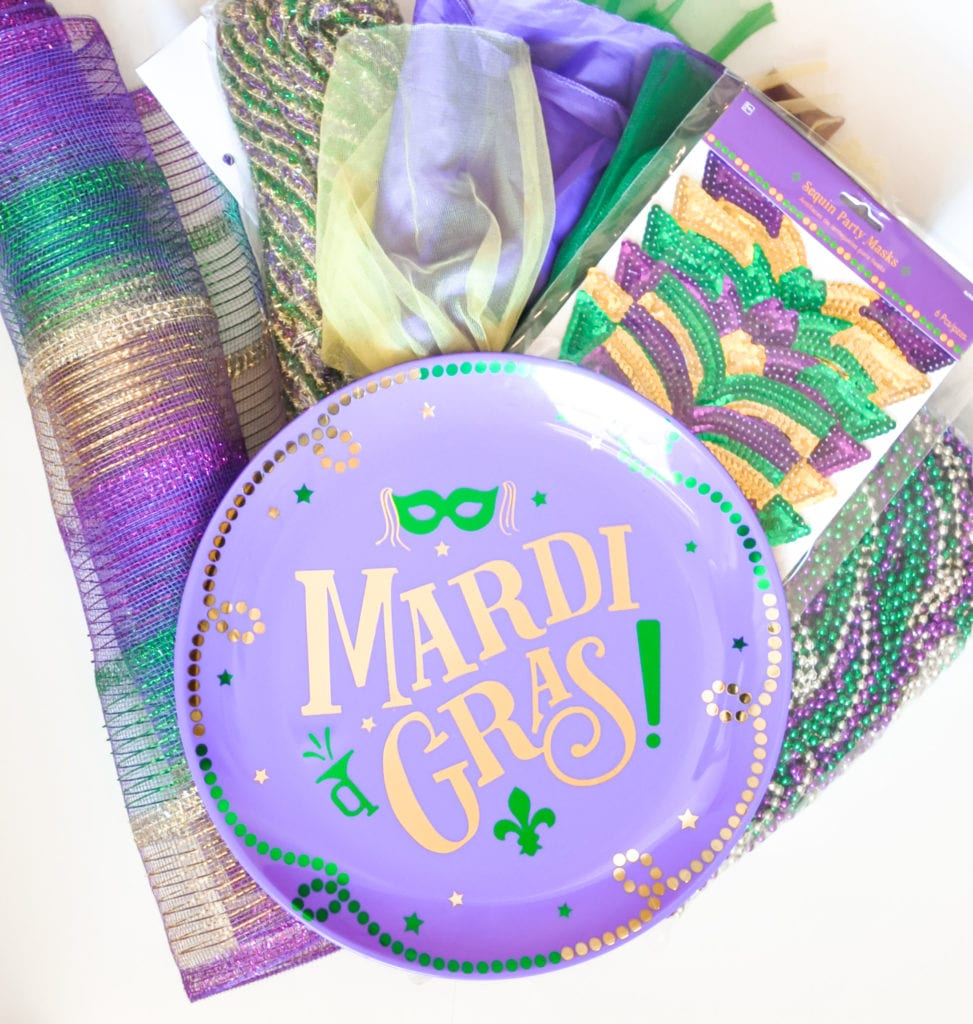 Decor for Mardi Gras Party Time