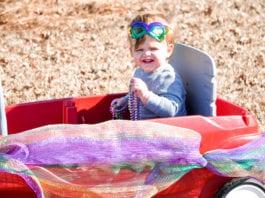 Mardi Gras Wagon Decor