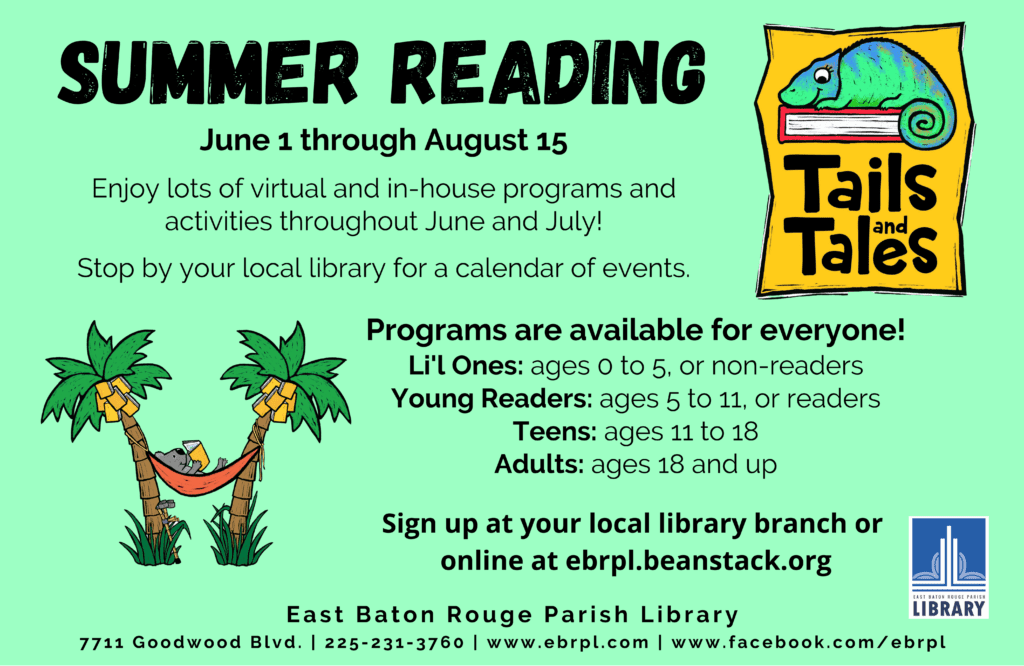 The Summer Reading Program is Happening Now at The East Baton Rouge Parish Library