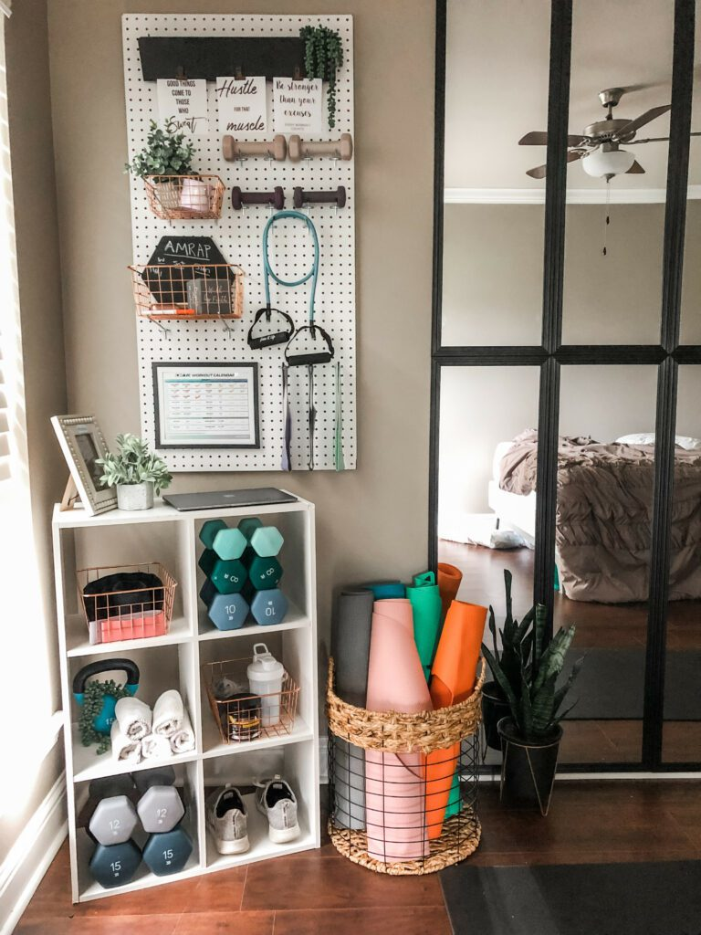 home workout space DIY